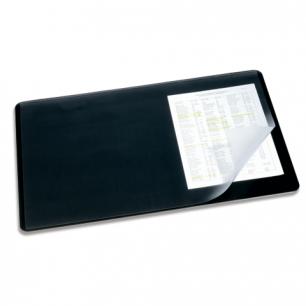 Коврик-подкладка настольный для письма DURABLE (Германия)  c прозр. листом, 40х53см, черный, 7202-01