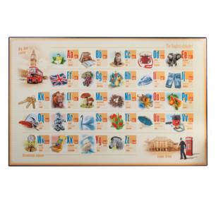 Коврик-подкладка настольный для письма с английским алфавитом, (380*590 мм), ДПС, 2129.Е