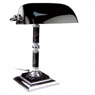 Светильник настольный из мрамора GALANT (основание-черный мрамор с серебристой отделкой)  231489