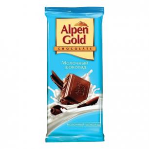 Шоколад ALPEN GOLD молочный, 90г, ш/к 07121