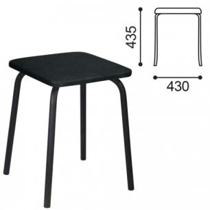 Табурет РС01-03, черный каркас, черный кожзам 201, ш/к 20872