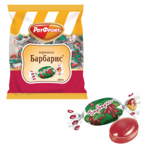 "Конфеты карамель РОТ ФРОНТ ""Барбарис"", 250г, пакет, РФ03898"