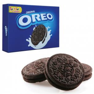 Печенье OREO (Орео)  шоколадное, начинка из ванильного крема, 228г (6 шт по 38гр), коробка ш/к 09310