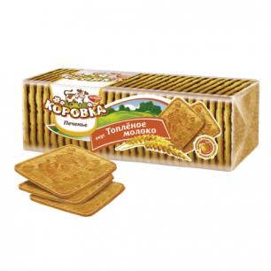 Печенье КОРОВКА топленое молоко, рассыпчатое, 375г, ш/к 32468
