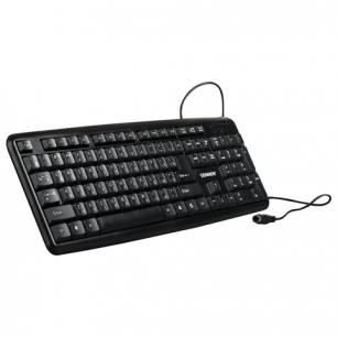 Клавиатура проводная SONNEN KB-100B, PS/2, 104 кнопки, черная, 511300