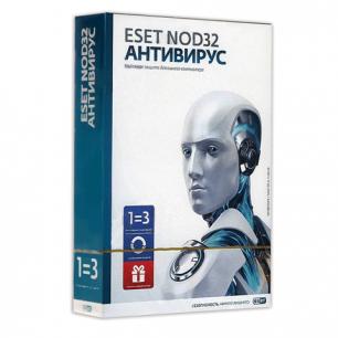 Антивирус ESET NOD32+Bonus, 3ПК 1год или продление на 20 месяцев, NOD32-ENA-1220 (BOX) -1-1