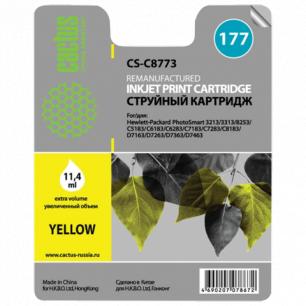 Картридж струйный HP (C8773HE)  Photosmart C7283/C8183 №177 желтый ресурс 950стр. CACTUS СОВМЕСТИМЫЙ