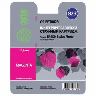 Картридж струйный EPSON (C13T08234A10)  Stylus R270/R390/RX590 пурпурный CACTUS СОВМЕСТИМЫЙ