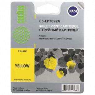 Картридж струйный EPSON (T10844A10)  Stylus C91/CX4300/T26/T27/TX106 желтый CACTUS СОВМЕСТИМЫЙ