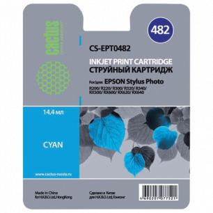 Картридж струйный EPSON (T048240)  Stylus Photo R200/R300/RX500 и др голубой CACTUS СОВМЕСТИМЫЙ