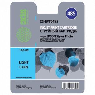 Картридж струйный EPSON (T048540)  Stylus Photo R200/R300/RX500 и др св.голубой CACTUS СОВМЕСТИМЫЙ