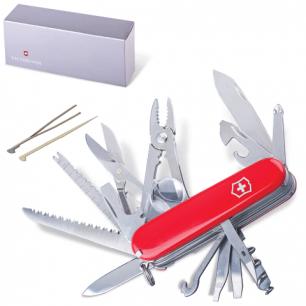 """Подарочный нож VICTORINOX """"Swisschamp"""", 91мм, складной, красный, красный, 33 функции, 1.6795"""