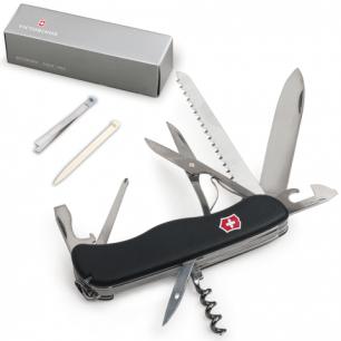 """Подарочный нож VICTORINOX """"Outrider"""", 111мм, складной, с фикс. лезвия, черный, 14 функций, 0.9023.3"""