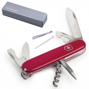 """Подарочный нож VICTORINOX """"Spartan"""", 91мм, складной, красный, 12 функций, 1.3603"""