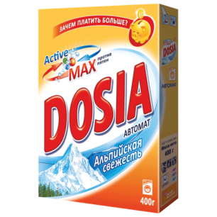 """Стиральный порошок автомат DOSIA (Дося), 400 г, """"Альпийская свежесть"""", ш/к 01156"""