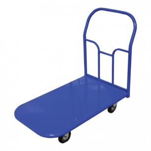 Тележка грузовая платформенная 4-х колесная ТП2 (г/п-350кг, колеса на литой резине D=125мм)