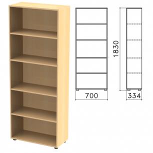 """Шкаф (стеллаж)  """"Канц"""" (ш700*г330*в1830 мм), 4 полки, цвет бук, ШК31.10"""