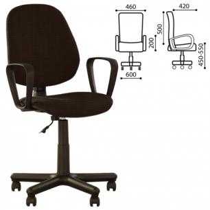 """Кресло оператора """"Forex GTP"""" с подлокотниками, коричневое С-24, ш/к 12644"""