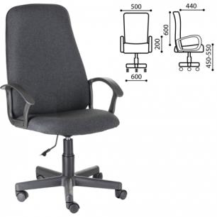 """Кресло офисное """"Элемент"""", СН 289, с подлокотниками, серое B-40, ш/к33003"""