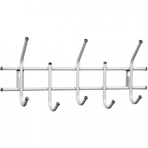 Вешалка настенная металлическая, 5 крючков (в280*ш600*г110мм)  Стандарт 2/5, цвет белый, шк 36594