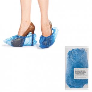 Бахилы, КОМПЛЕКТ 100 штук (50 пар), чехлы для обуви, размер 39*15 см, ПНД 10 мкм, в евроупаковке
