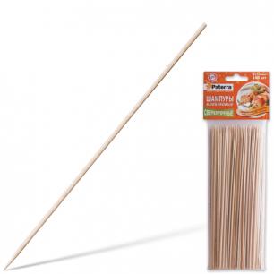 Шампуры для шашлыка PATERRA, КОМПЛЕКТ 100 шт., 200 мм, d=3 мм, бамбуковые,  401-697