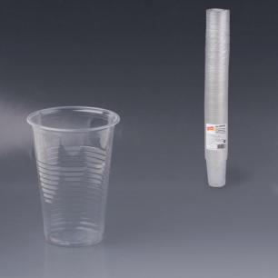 Одноразовые стаканы ЛАЙМА Бюджет, КОМПЛЕКТ 100шт., пластиковые 0,2л, прозрачные, ПП, хол/гор, 600933