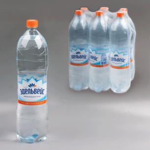 Вода газированная питьевая ЭДЕЛЬВЕЙС, 1,5л, пластиковая бут., ш/к 00201