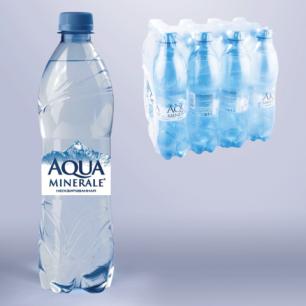 Вода негазированная питьевая АКВА МИНЕРАЛЕ 0,6л, ш/к 00393
