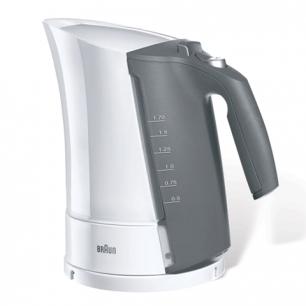 Чайник BRAUN WK-300, закрытый нагр.элемент, объем 1,7л, мощн. 2200Вт, индик. уровня воды, белый