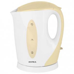 Чайник SUPRA KES-1702, открытый нагр.элемент, объем 1,7л, мощн. 2200Вт, пластик, белый с кремовым