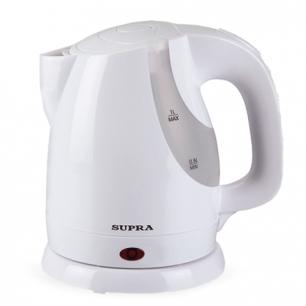 Чайник SUPRA KES-1021, закрытый нагр.элемент, объем 1л, мощн. 1300Вт, пластик, белый