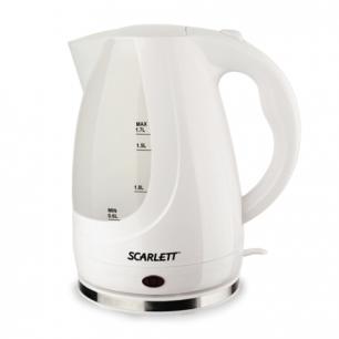 Чайник SCARLETT SC-EK18P31 закрытый нагр.элемент, объем 1,7л, мощность 2200Вт, пластик, белый