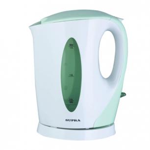 Чайник SUPRA KES-1702, открытый нагр.элемент, объем 1,7л, мощн. 2200Вт, пластик, белый с зеленым
