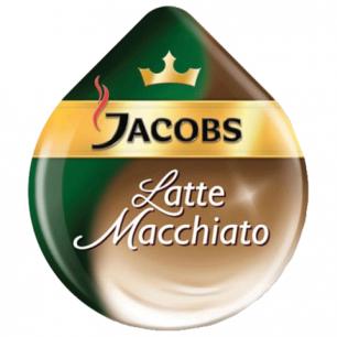 Капсулы для кофемашин TASSIMO JACOBS Latte Macchiato, натур.кофе 8шт*7г, молочн.капсулы 8шт*21,7г