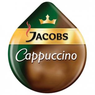 Капсулы для кофемашин TASSIMO JACOBS Capuchino, натуральный кофе 8шт*8г, молочные капс 8шт*40г, 13378