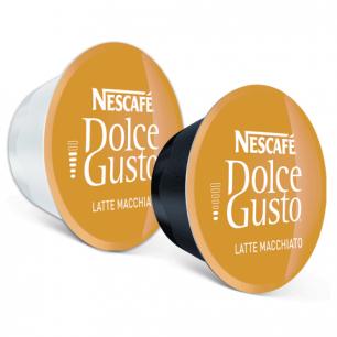 Капсулы для кофемашин NESCAFE Dolce Gusto Latte Machiato, нат.кофе 8шт*6,5г, мол.капс8шт*17,8г, 5219838