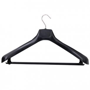 Вешалка-плечики универсальная, пластиковая, р. 50-52, длина 48см, ширина 6,5см, цвет черный, С 041