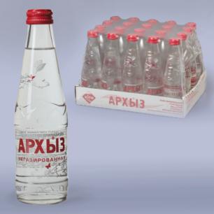 Вода негазированная минеральная АРХЫЗ, 0,25л, стеклянная бутылка, ш/к 02059
