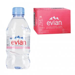 Вода негазированная минеральная EVIAN (Эвиан)  0,33л, пластиковая бутылка, ш/к 63003