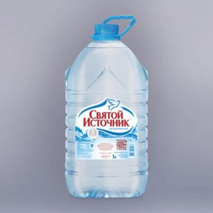 """Вода негазированная питьевая """"Святой источник"""", 5л, пластик. бут. ш/к 00236"""
