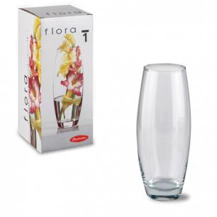 """Ваза PASABAHCE """"Flora"""", овальная, высота 260 мм, стекло, 43966"""