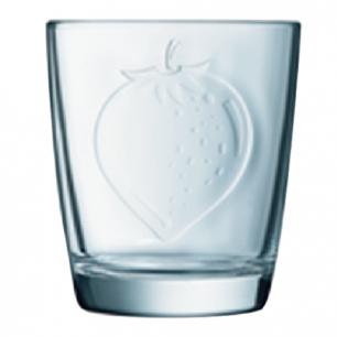 """Стакан для сока LUMINARC """"FRUITY ENERGY"""" КЛУБНИКА, 250 мл, низкий, стекло, L1176"""