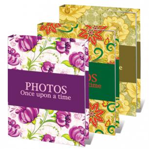 Фотоальбом BRAUBERG на 36 фото 10*15 см, твердая обложка, яркие узоры, ассорти, 390655