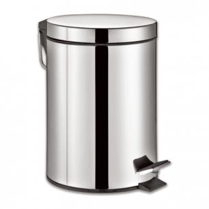 """Ведро-контейнер для мусора с педалью ЛАЙМА """"Classic"""", 12 л., зеркальное, нержавеющая сталь, 232261"""