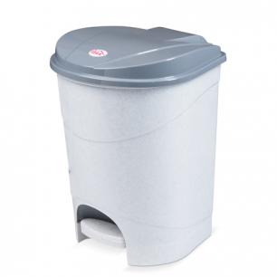 Ведро-контейнер для мусора с педалью IDEA, 19л., серое (в38,4*ш29,7*г30,2см), М2892