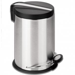 """Ведро-контейнер для мусора с педалью ЛАЙМА """"Modern"""", 30 л., матовое, нержавеющая сталь, 232265"""