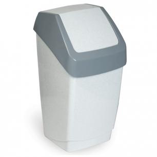 Ведро-контейнер для мусора IDEA, 15 л., серое (в 46*ш 26*г 25 см), качающаяся крышка, М 2471