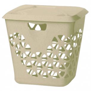 """Корзина 45л для мусора/белья IDEA, """"Венеция"""", универсальная, пластик (в43*ш37*г47см), бежевая, М 2605"""