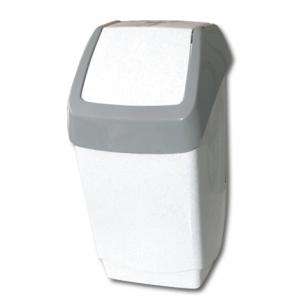 Ведро-контейнер для мусора IDEA, 25 л., серое (в 55*ш 30*г 28 см), качающаяся крышка, М 2472